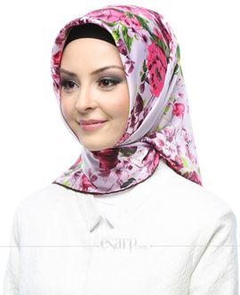AKER SPORT Pembe Renkli Çiçek Desenli Rayon Eşarp 103015