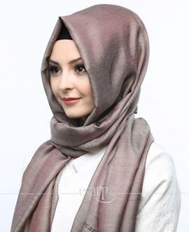 ECARDİN Kahverengi Renkli Düz Desenli Polyester Şal 108100