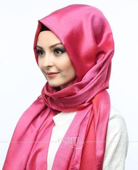ECARDİN Gül Kurusu Renkli Düz Desenli Polyester Şal 108109