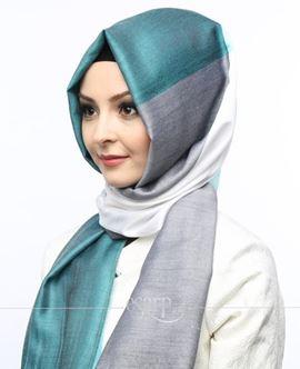 ECARDİN Mavi Gri Renkli Polyester Şal 108146