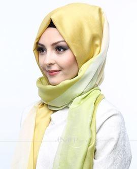 ECARDİN Sarı Yeşil Renkli Polyester Şal 108148