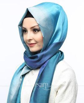 ECARDİN Mavi Renkli Polyester Şal 108152