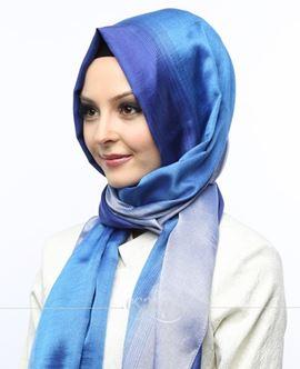 ECARDİN Mavi Renkli Polyester Şal 108160