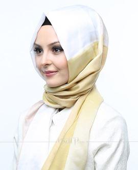 ECARDİN Sarı Krem Renkli Polyester Şal 108162