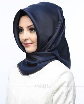 KARACA Lacivert Renkli Düz Desenli Polyester Eşarp 110007