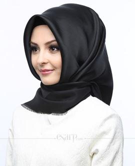 KARACA Siyah Renkli Düz Desenli Polyester Eşarp 110008