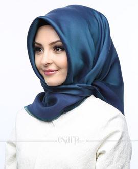 KARACA Lacivert Renkli Düz Desenli Polyester Eşarp 110009