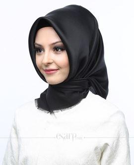 MİRAY Siyah Renkli Düz Desenli Polyester Eşarp 111013