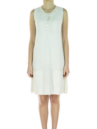 Krem Maje Elbise / Tunik