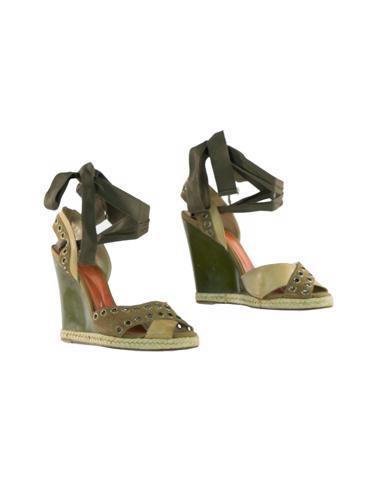 Yeşil Yves Saint Laurent Ayakkabı
