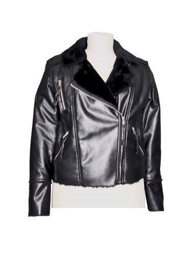 Siyah Blank NYC Deri Ceket