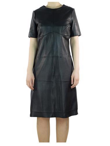 Siyah Reiss Deri Elbise