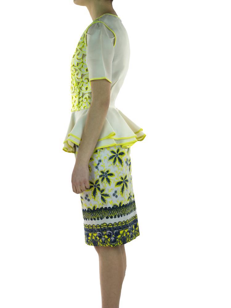 Beyaz Prabal Gurung Etek - Bluz