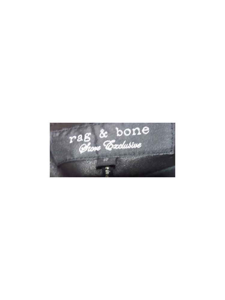 Siyah Rag&Bone Deri Etek