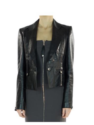Siyah Christian Dior Deri Ceket
