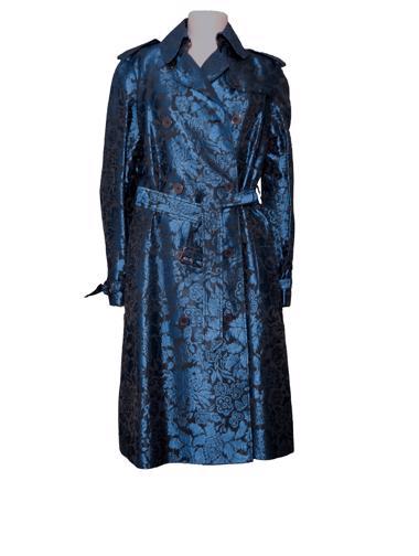 Mavi Burberry Pardösü