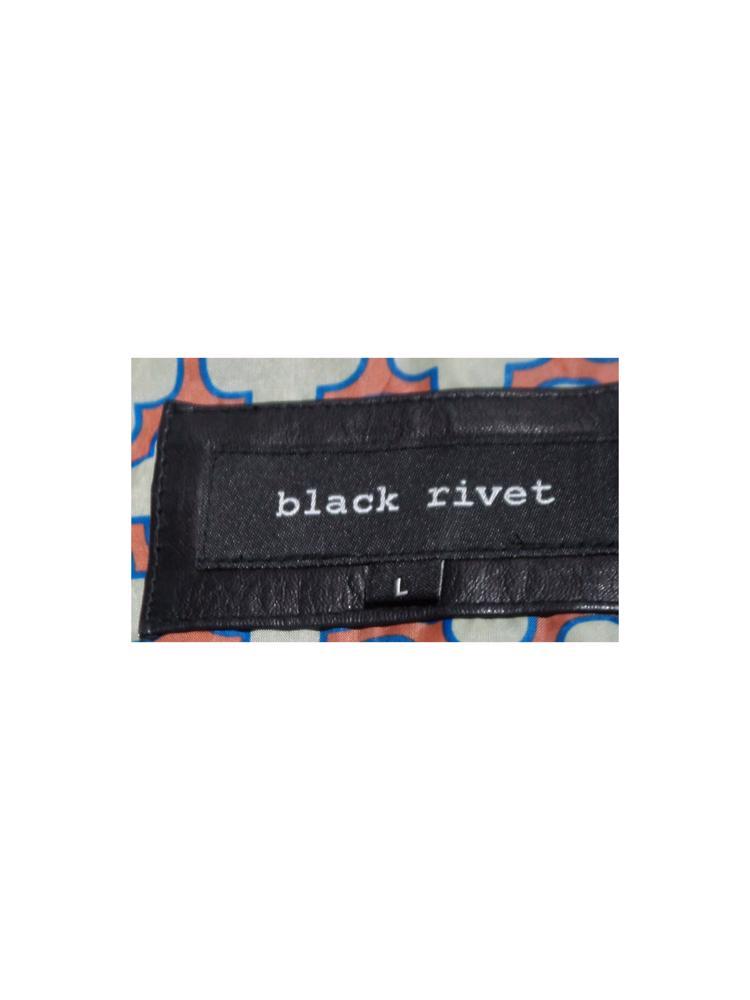Siyah Black Rivet Deri Ceket