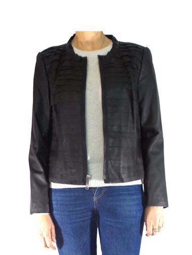 Siyah DKNY Deri Ceket