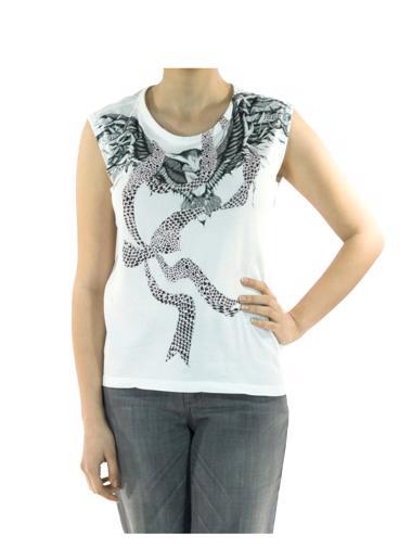 Beyaz MCQ Alexander McQueen T-Shirt