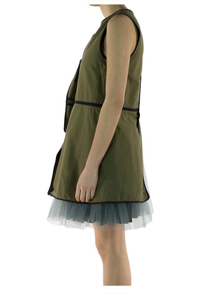 Yeşil Marni Elbise - Yelek