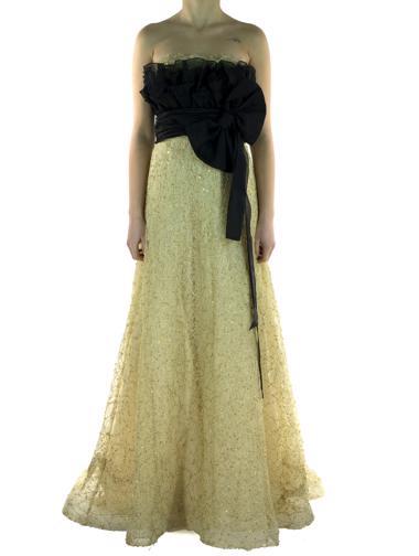 Altın Rachel Couture Elbise