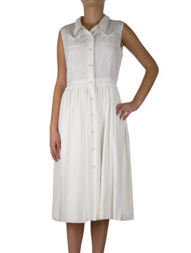 Beyaz Prada Elbise