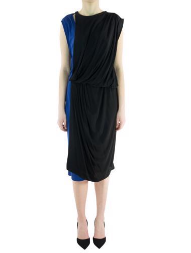 Siyah Vionnet Elbise