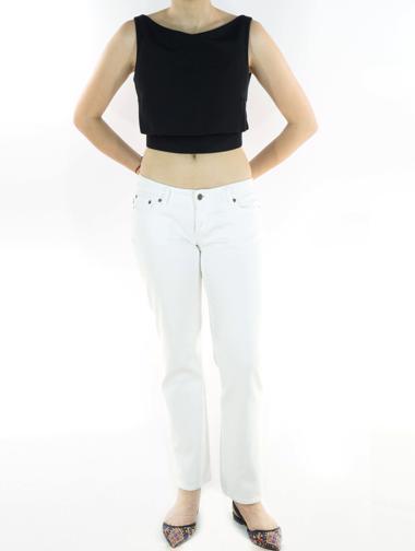 Beyaz Prada Jean Pantolon