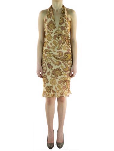 Bej Laltra Moda Elbise