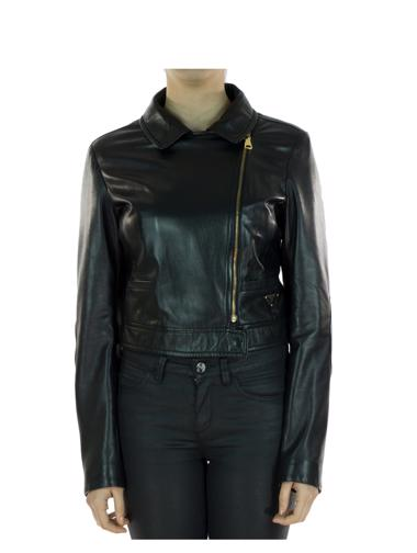 Siyah Prada Deri Ceket