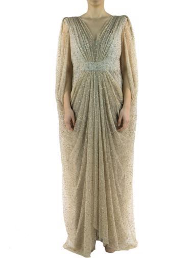 Bej Badgley Mischka Elbise
