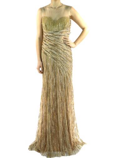 Altın Jenny Packham Elbise