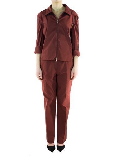 Kırmızı Prada Pantolon - Gömlek