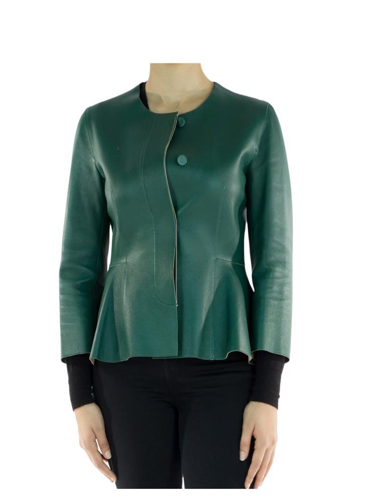 Yeşil Marni Deri Ceket