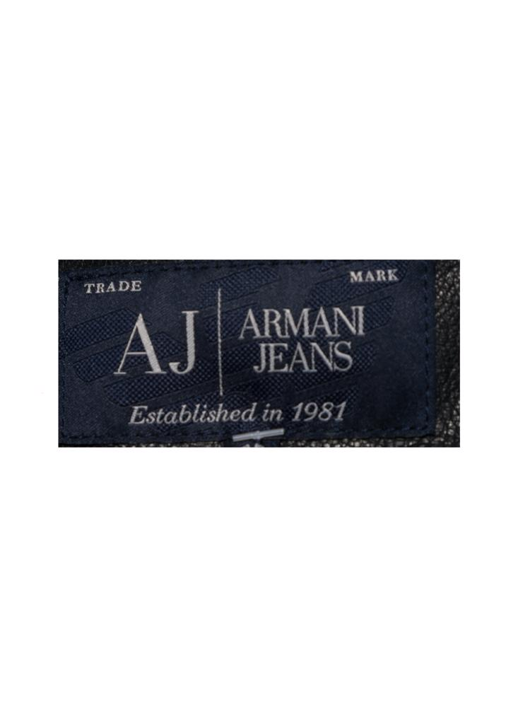 Siyah Armani Jeans Deri Ceket