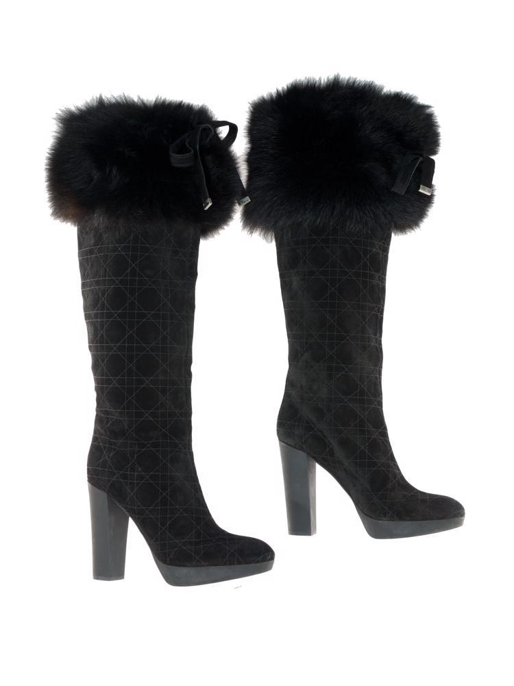 Siyah Christian Dior Çizme