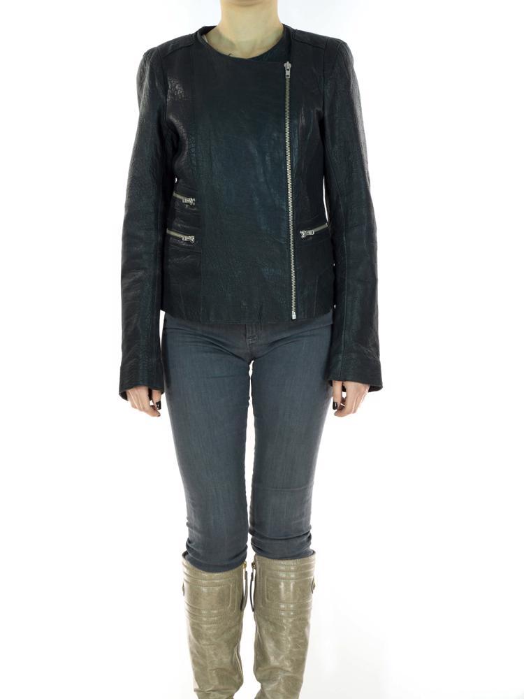 Siyah Maje Deri Ceket