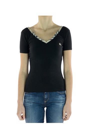 Siyah Burberry T-Shirt