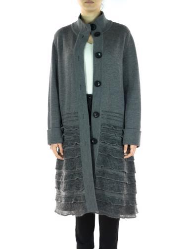 Gri Valentino Hırka / Palto