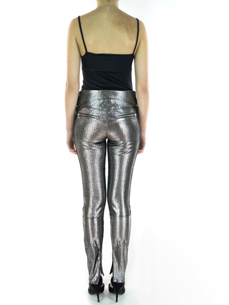 Gümüş RTA Deri Pantolon