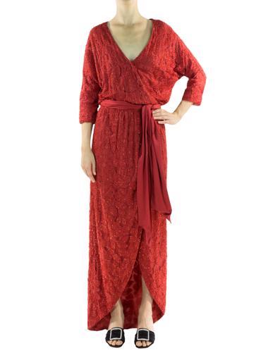 Kırmızı Halston Elbise