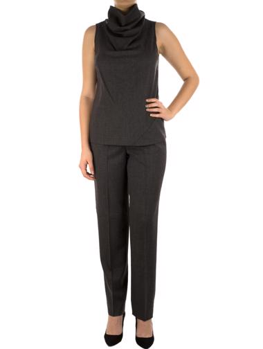 Gri Donna Karan Signature Pantolon - Bluz