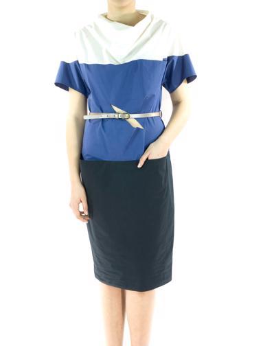 Mavi Bottega Veneta Elbise