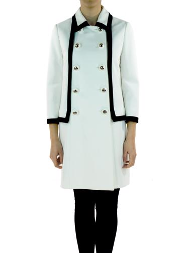 Beyaz Moschino Palto