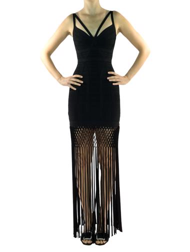 Siyah Herve Leger Elbise