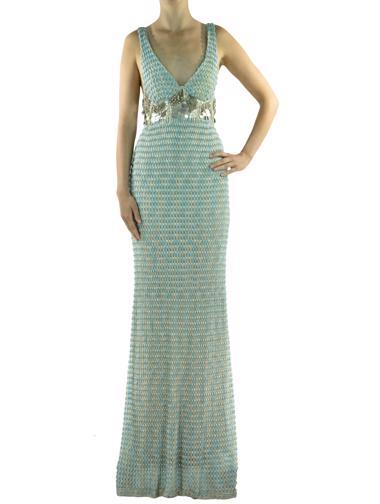 Yeşil Missoni Elbise