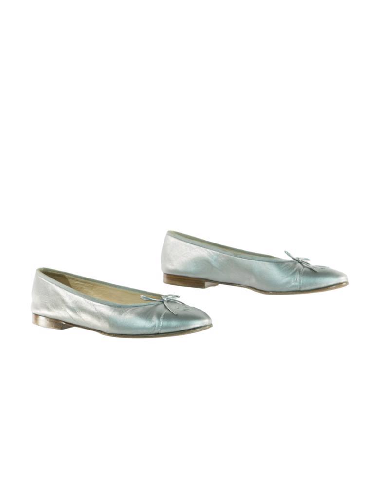 Gümüş Chanel Ayakkabı