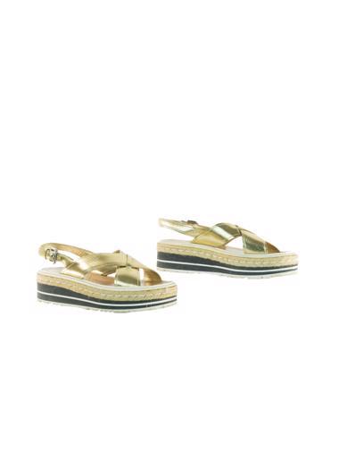 Altın Prada Ayakkabı
