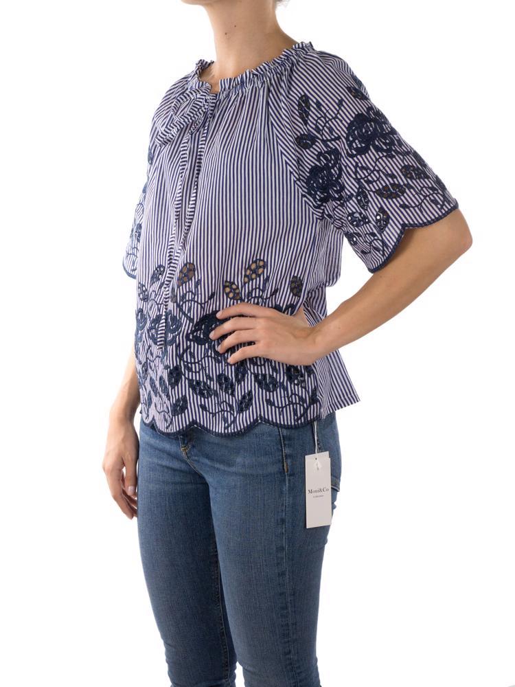 Lacivert Moni&Co Bluz