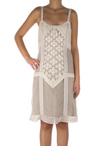 Krem Fendi Elbise
